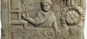 Escultura en piedra que evidencia que el aceite de oliva se producía desde los días del imperio romano