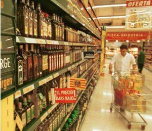 Aceites de oliva en el supermercado