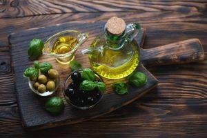 Aceite de oliva en la cocina