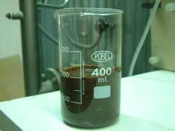 Alpechín como muestra de laboratorio