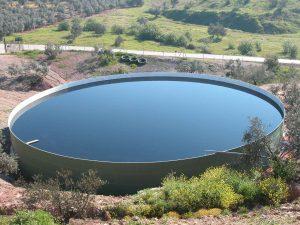 Laguna artificial de alpechín
